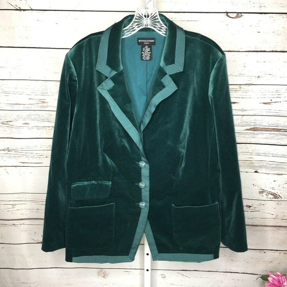 Sutton Studio Jackets & Blazers - Sutton Studio Womens Velvet Jacket Blazer Size 18W